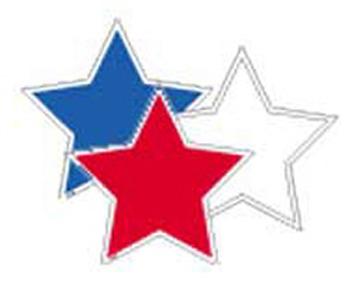 Patriotic stars clipart