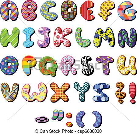 ... Patterned alphabet - Colorful patterned alphabet set