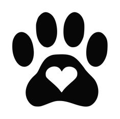 Dog paw heart decal #lundtlettering Check out our Etsy shop at  lundtletteringdesign.etsy hdclipartall.com