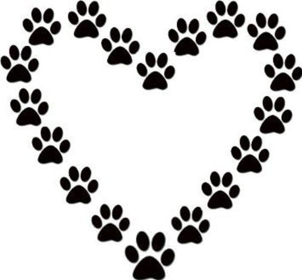 Paw Prints Clipart this image as: