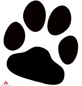 Free Dog Paw Print Clipart Image