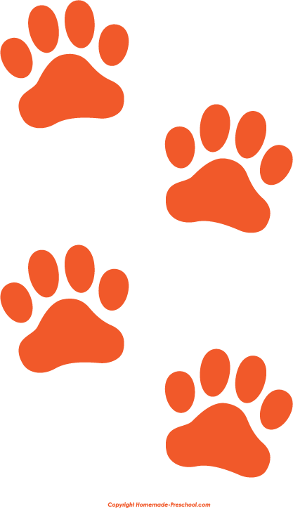Orange Paw Prints