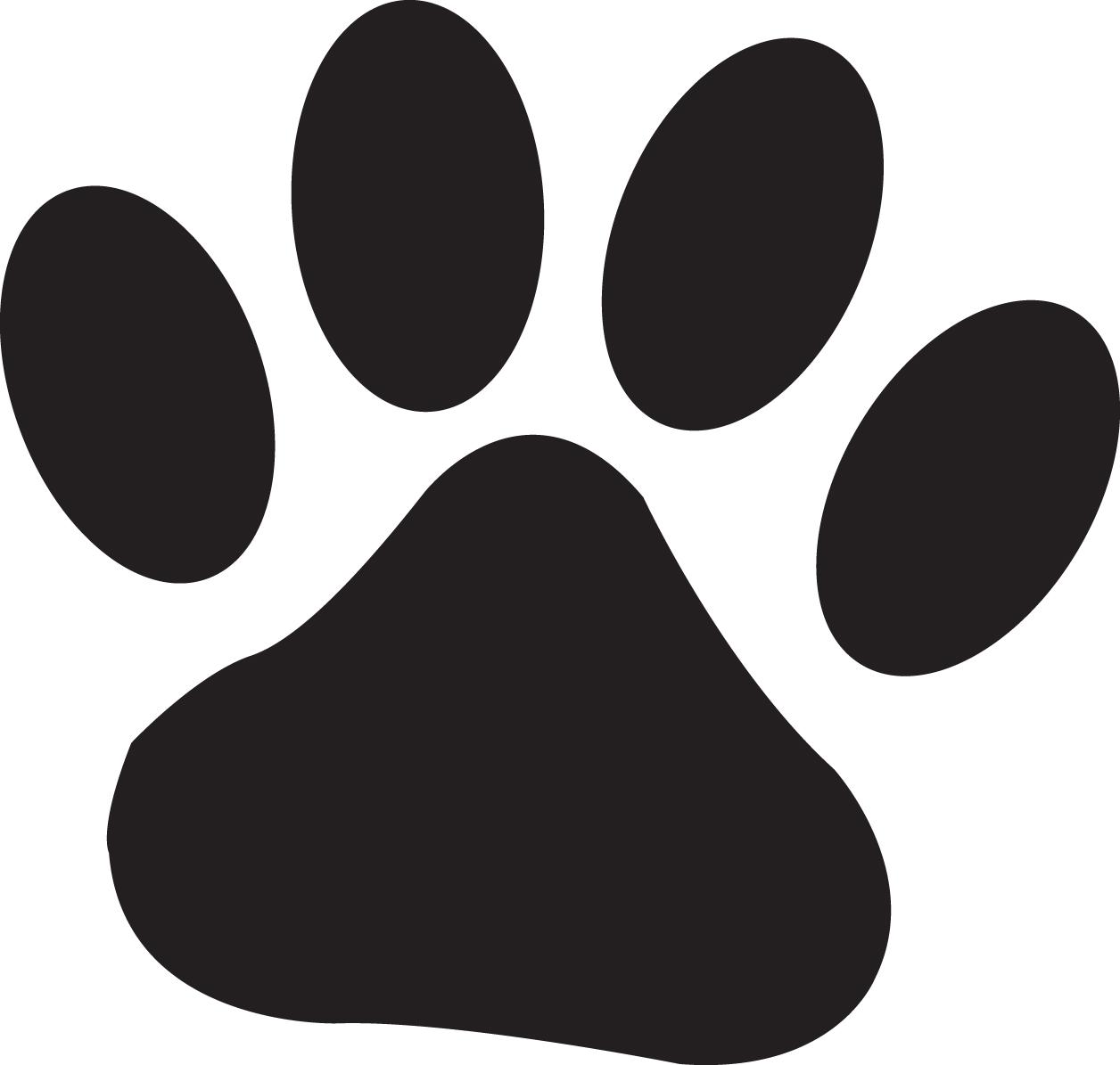 Paw prints puppy paw print clipart kid