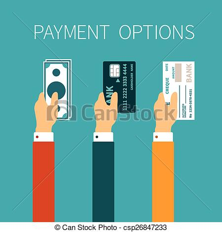 . ClipartLook.com Vector concept of payment options in flat style