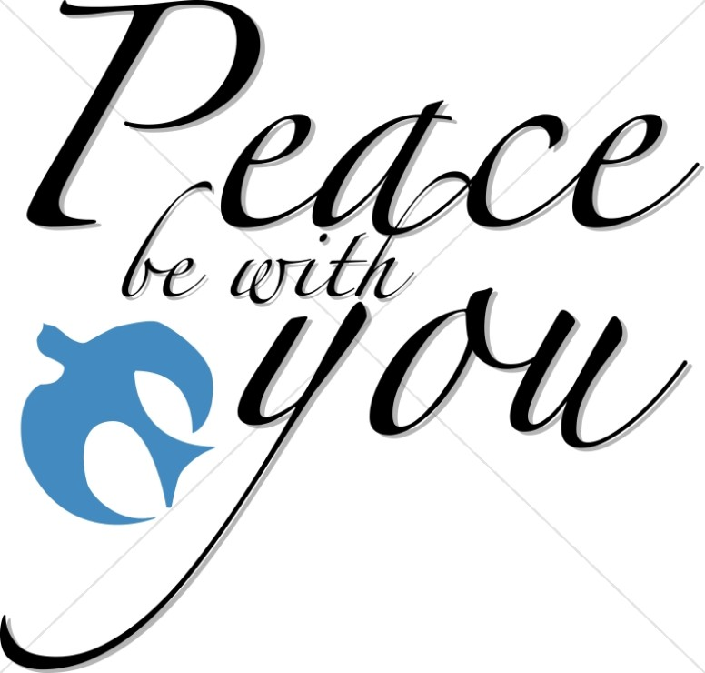 Peace Be with You Blue Dove - Peace Clipart