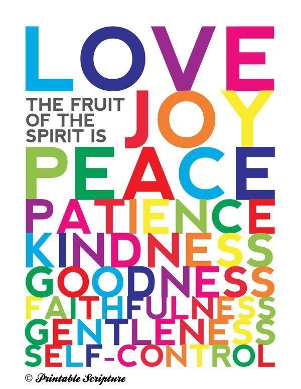 Peace Fruit of the Spirit Clip Art