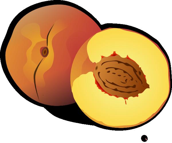 Peach Clip Art At Clker Com Vector Clip Art Online Royalty Free