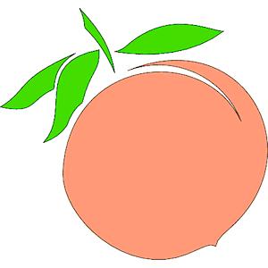 Peach clip art clipart photo 2