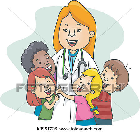 Clip Art - Pediatrician. Fotosearch - Search Clipart, Illustration Posters,  Drawings, and