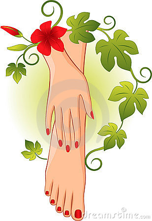 Pedicure Cartoon Clipart