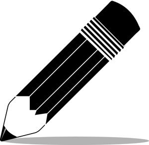 pencil clipart black and white
