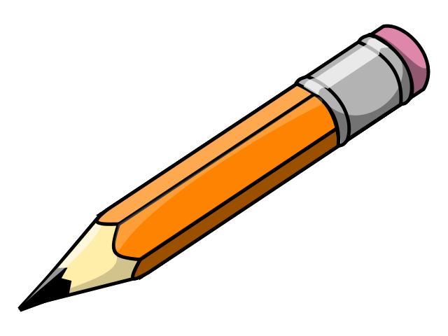 Pencil clip art black and . - Pencil Clip Art