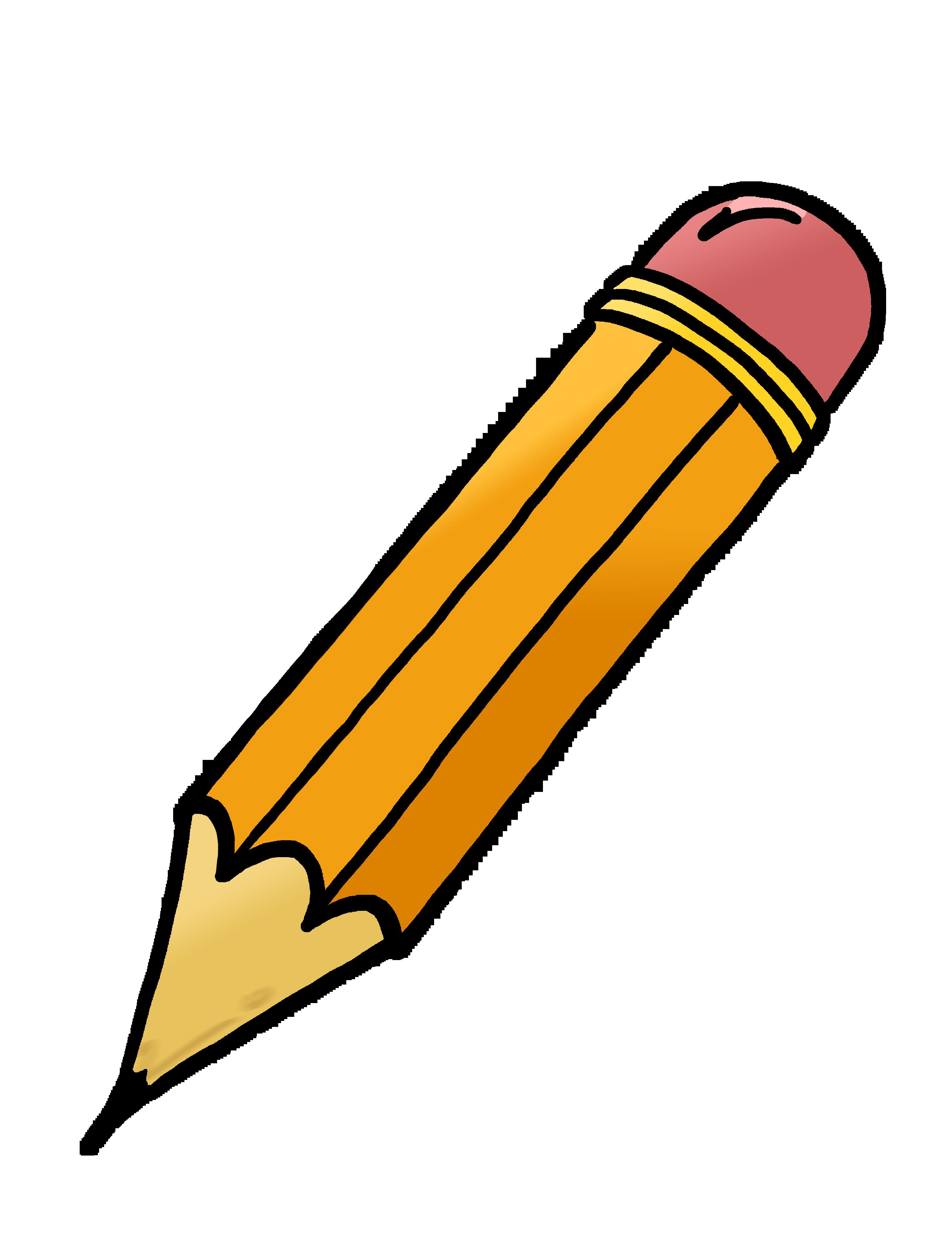 Pencil clip art black and .