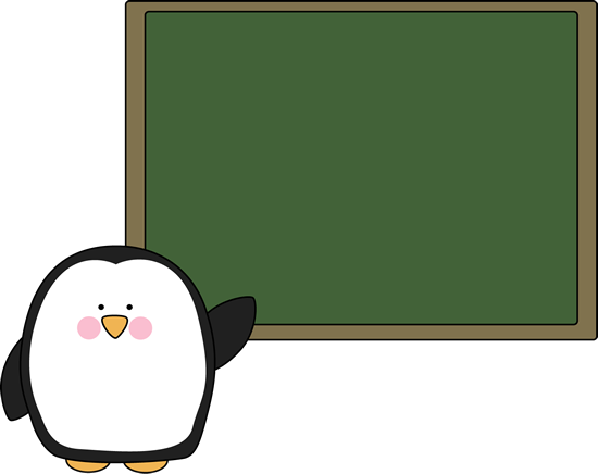 Penguin and Chalkboard