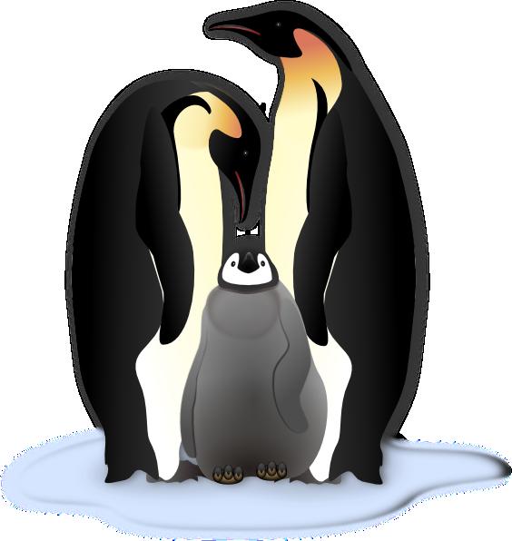Penguin Family Clip Art At Clker Com Vector Clip Art Online Royalty