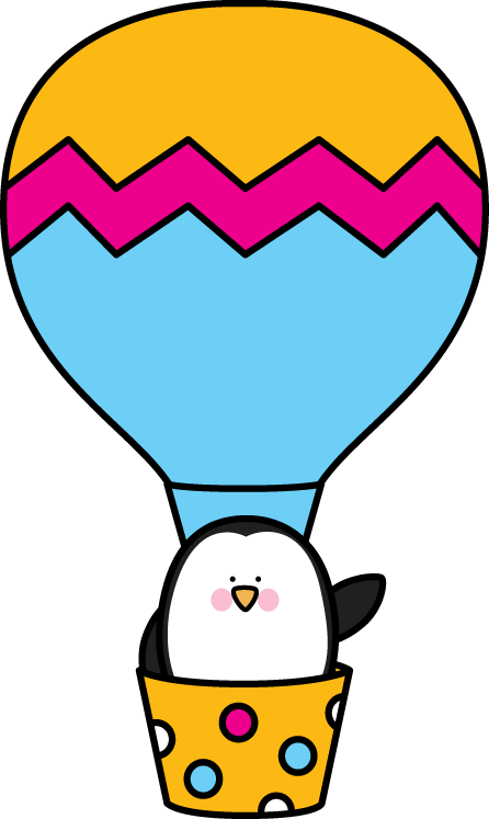 Penguin in a Hot Air Balloon