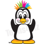 Penguin with Crazy Hair