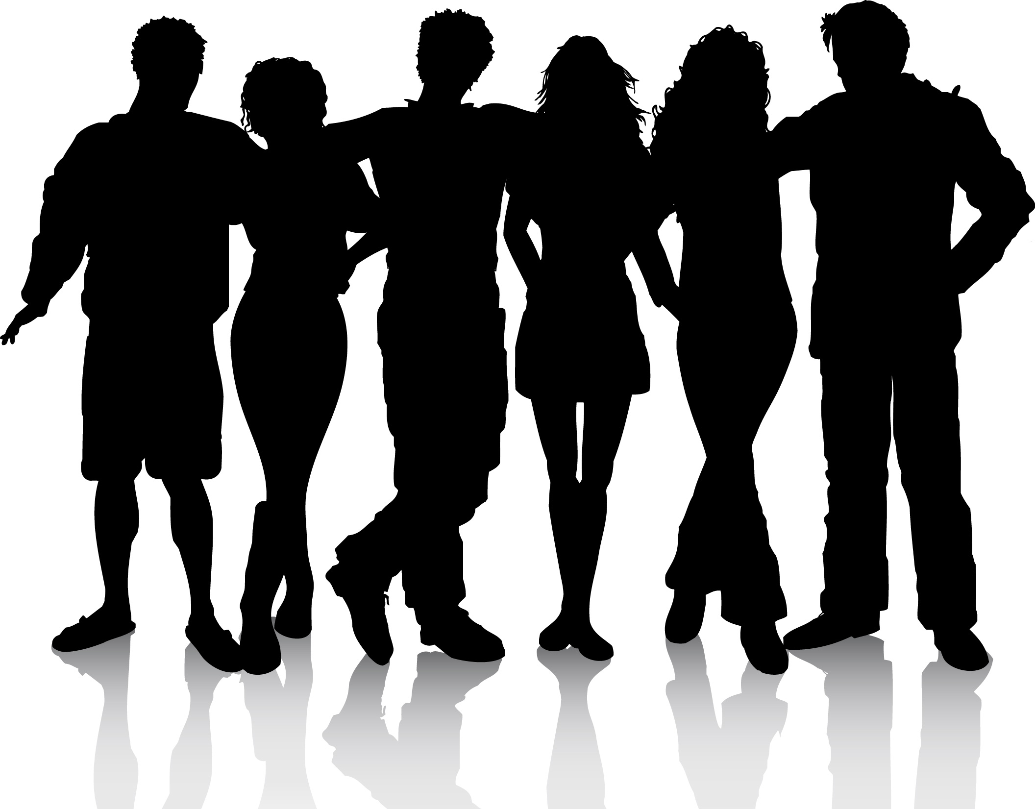 People clip art silhouette free clipart images
