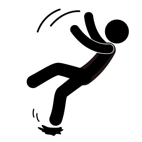 ... people falling down clip art ...
