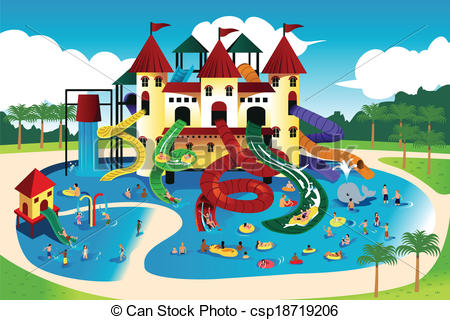 People going to water park .