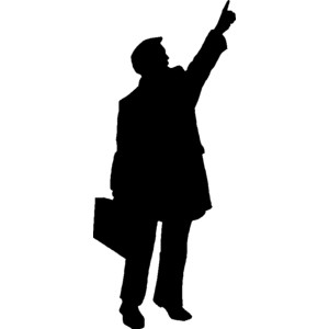 People Silhouette Clipart .