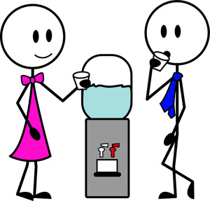 People Talking Clipart Image People Standing Around A Watercooler