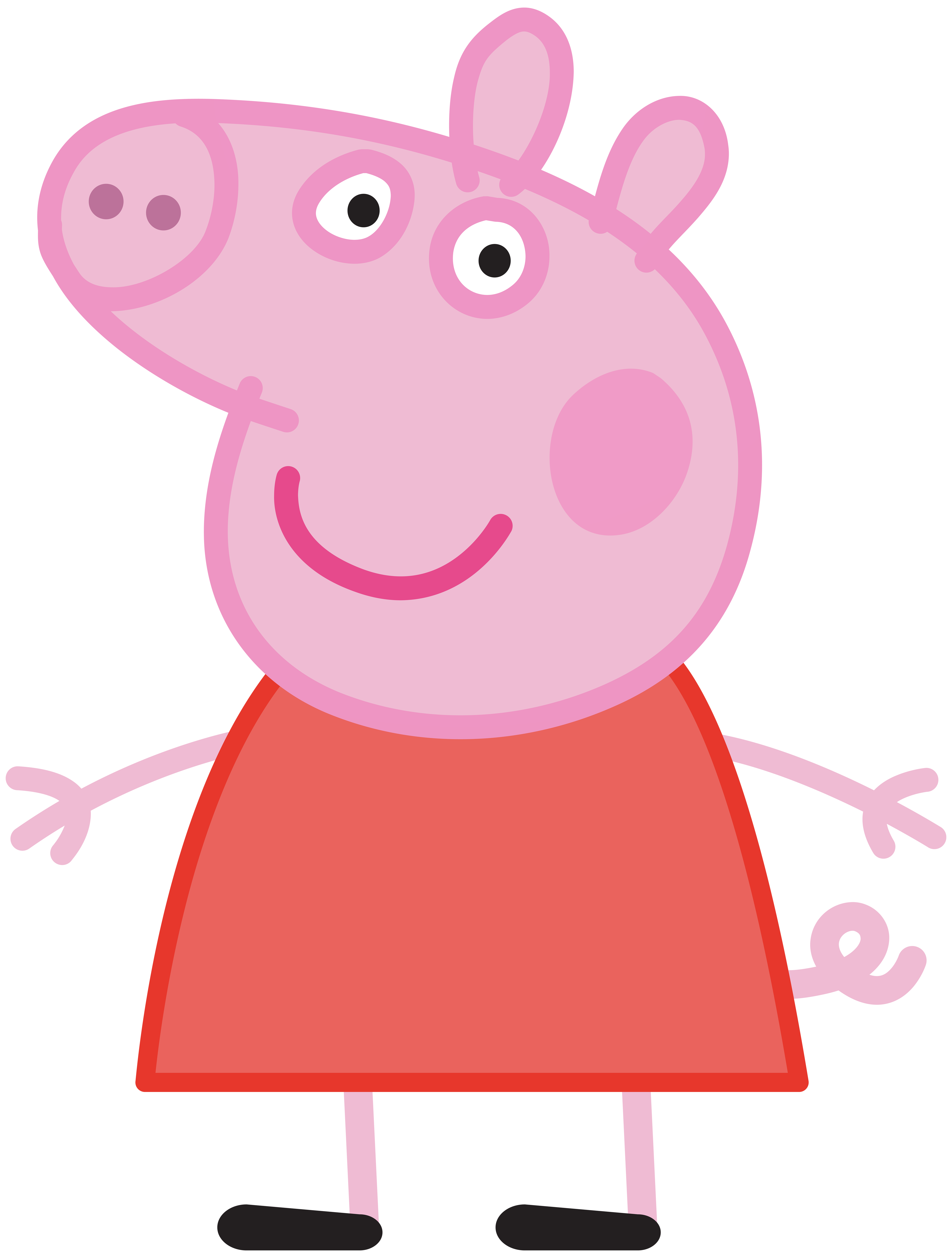 Peppa Pig Transparent PNG .