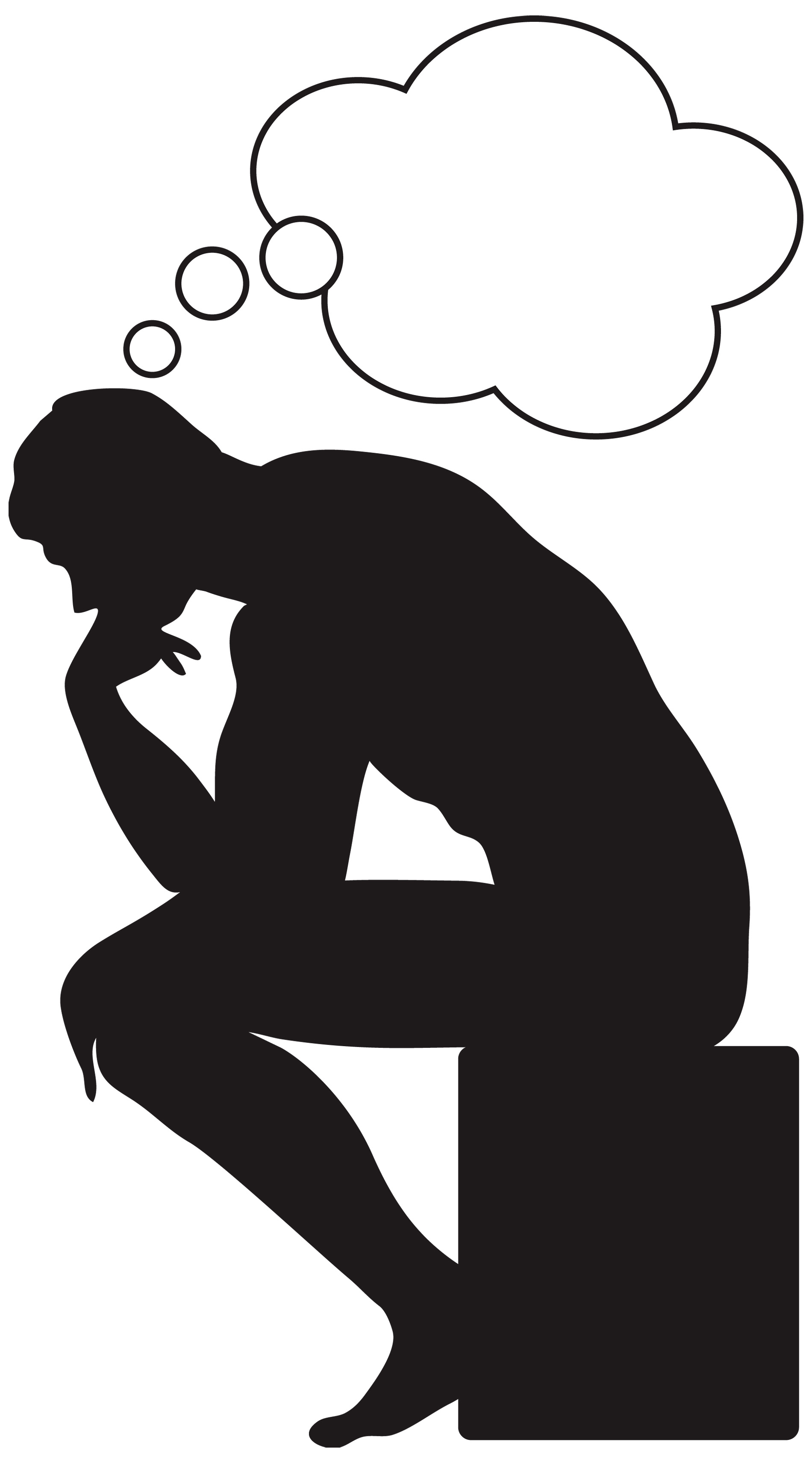 Person thinking clipart free .