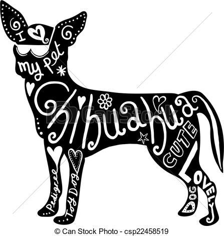 ... Pet Chihuahua Dog - Hand drawn illustration of a chihuahua.