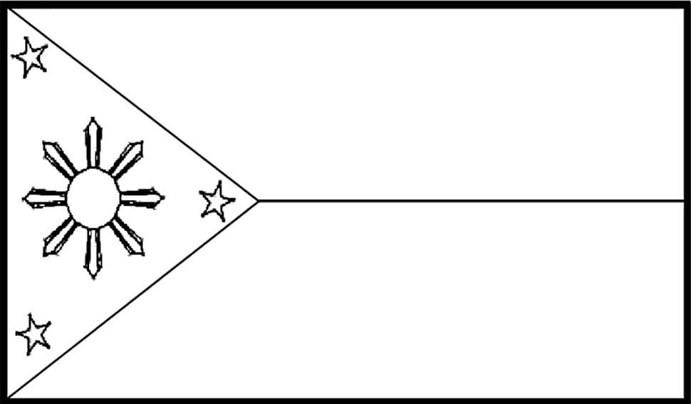 Philippine Flag Clipart Black .