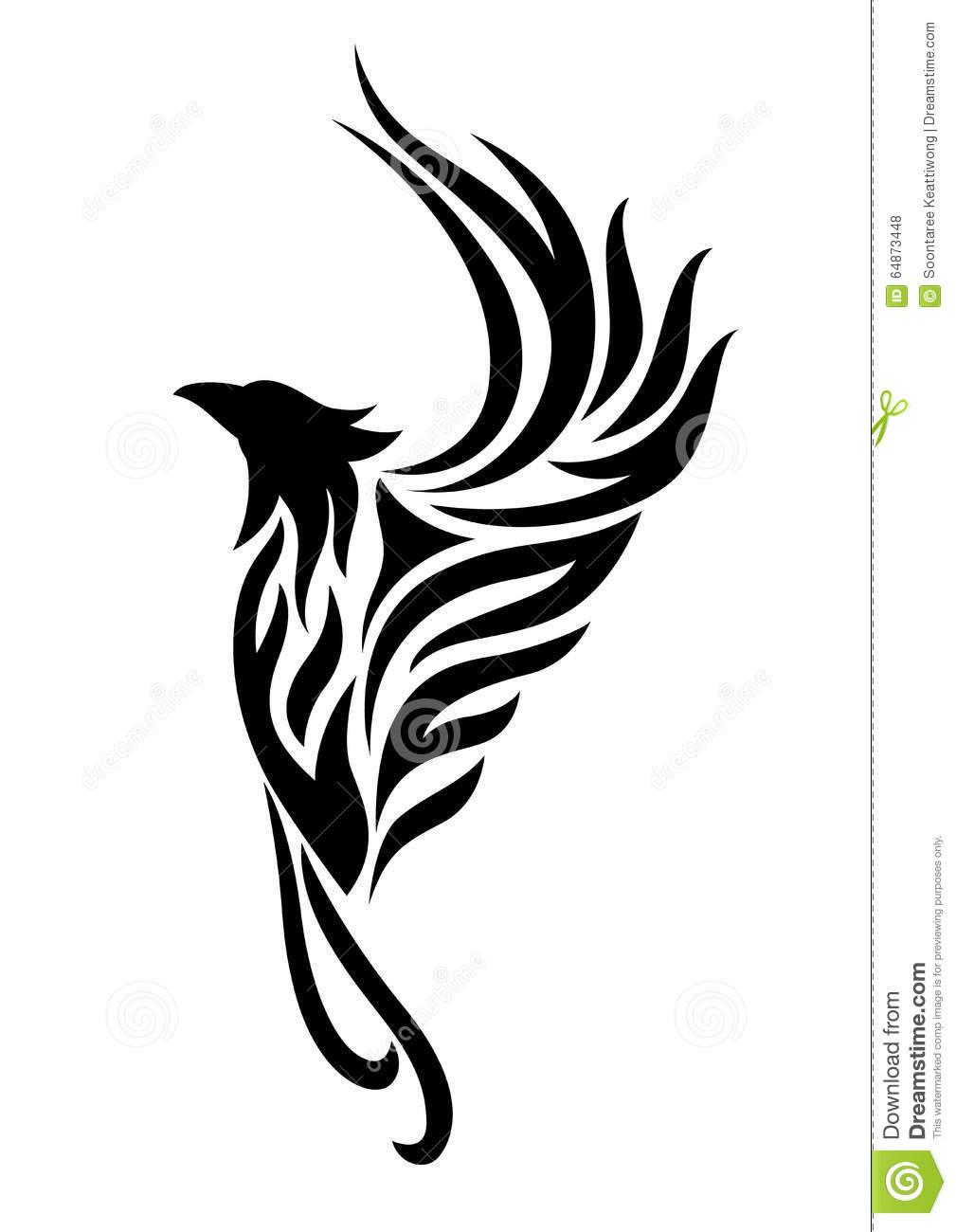 Phoenix tattoo clipart