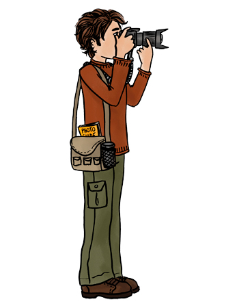 ... Photographer Clipart Illustration #1047430 by Ron Leishman. Large Gif Image With Transparent Background 350 X 450 Pixels