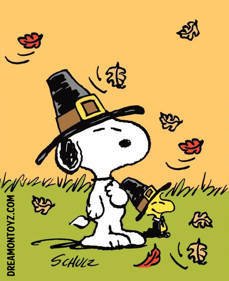 Photographs Peanuts Snoopy And Woodstock Pilgrims For Thanksgiving