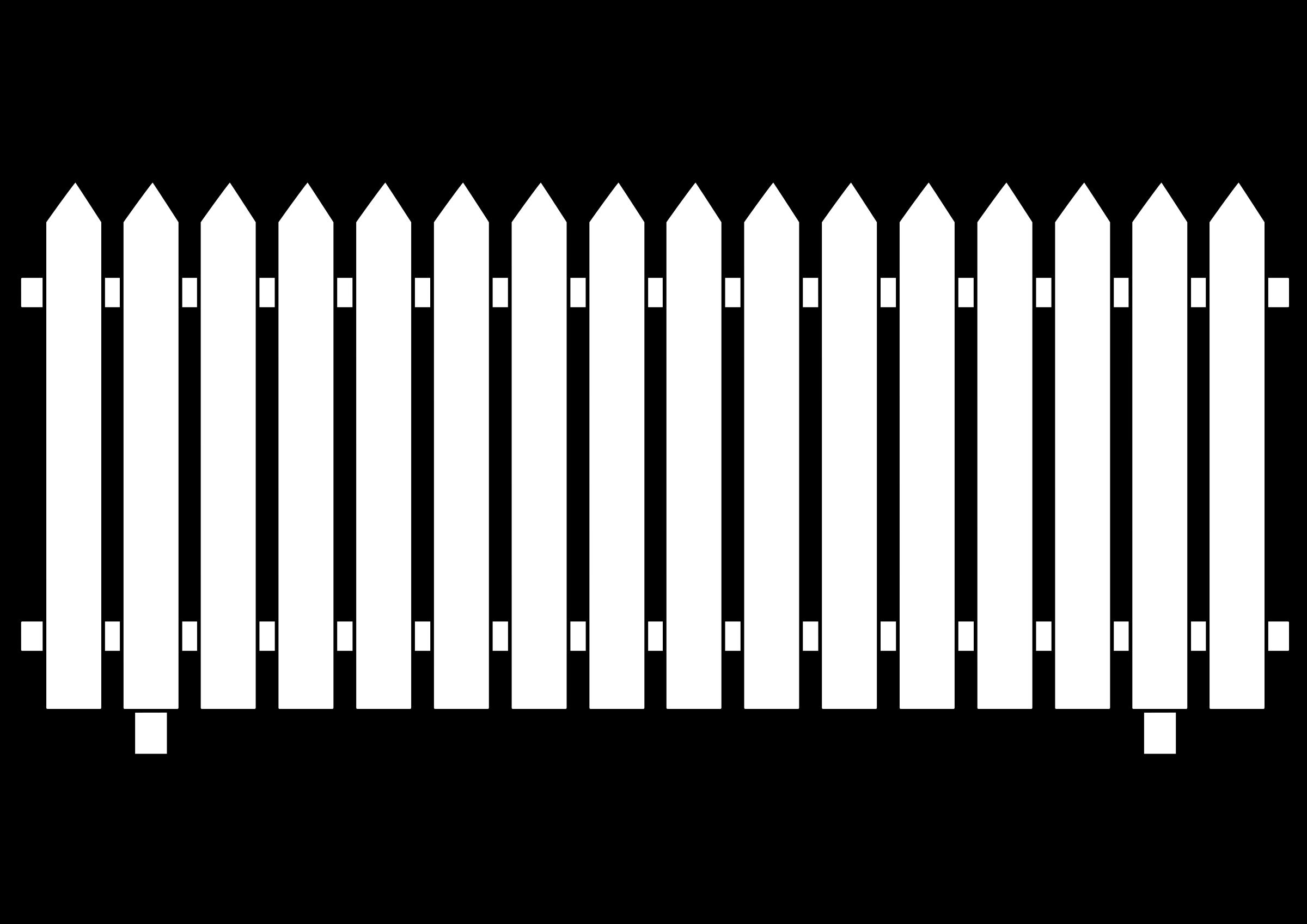 Picket Fence Clip Art