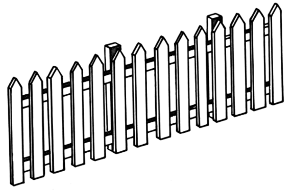 ... Picket Fence Template Clipart - Free to use Clip Art Resource ...