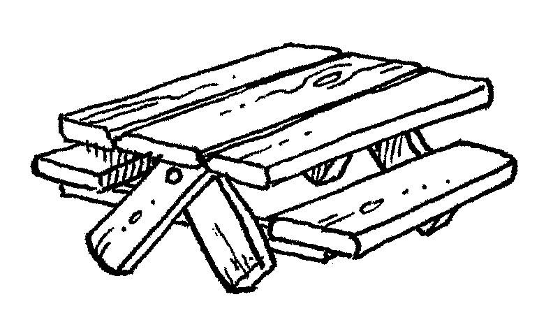 picnic table clip art