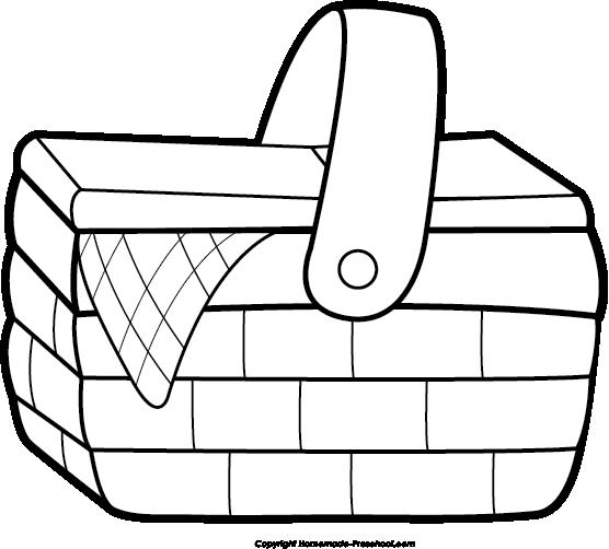 Picnic Basket Bw Png u0026middot; « More Picnic Basket Clip Art