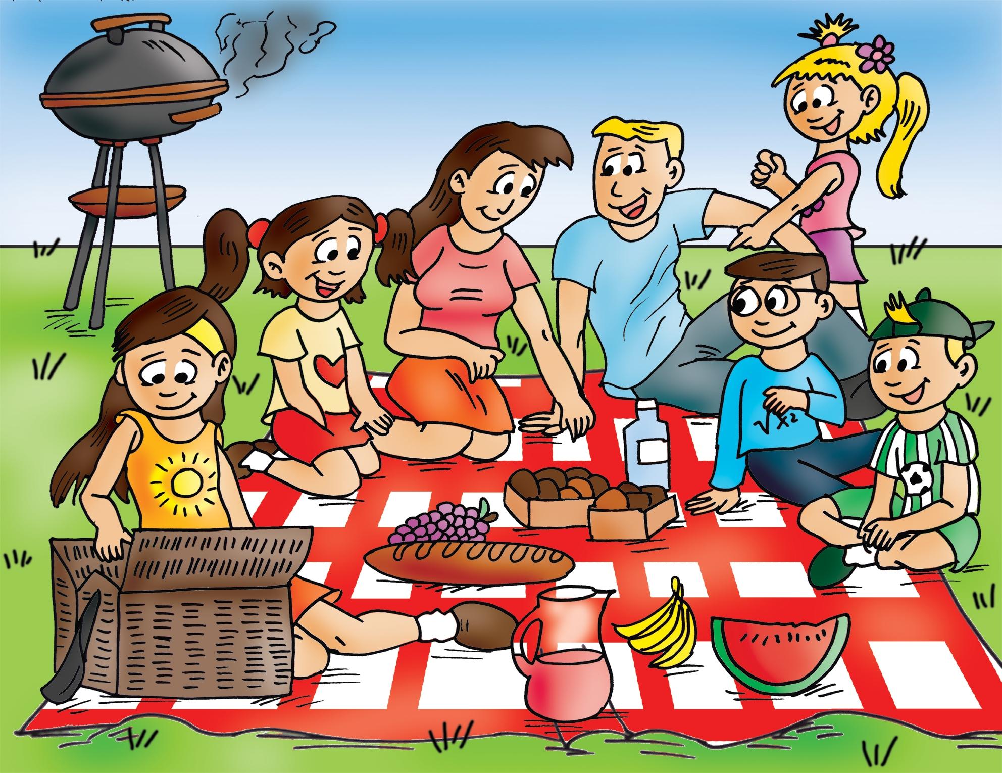 Family picnic clipart 2