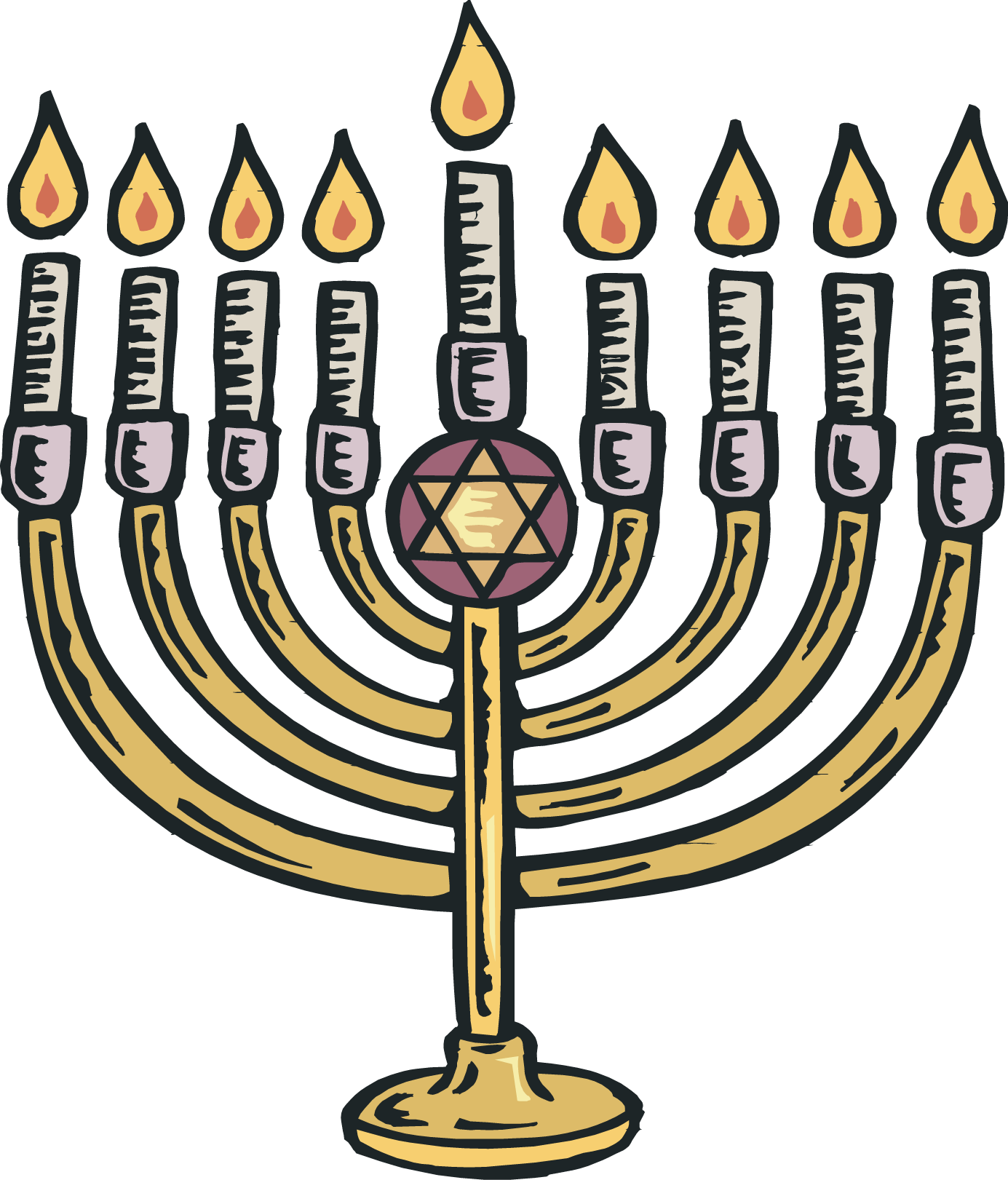 Picture Of Menorah - Clipart library