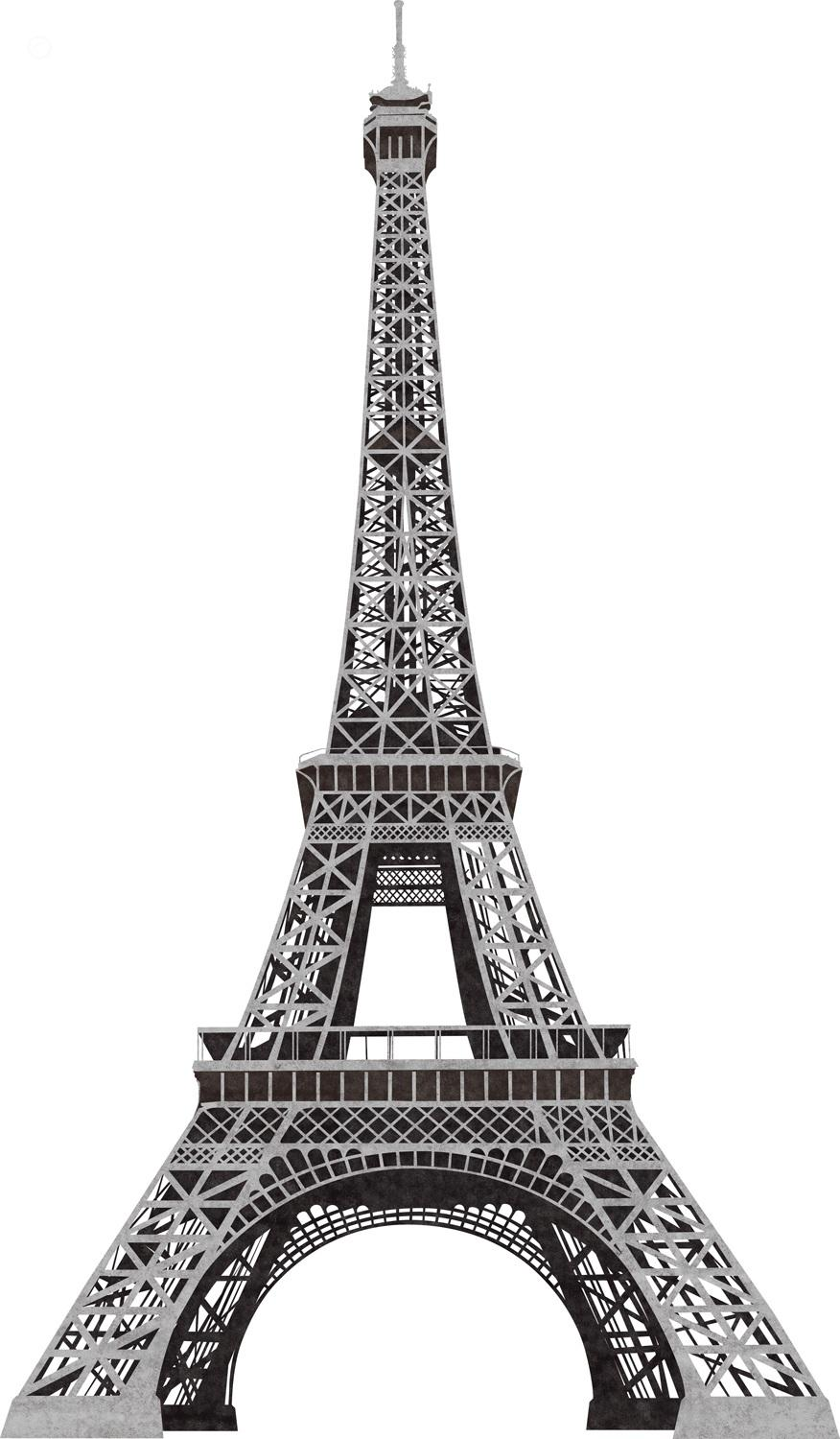 Pictures eiffel tower black and white clipart clipartcow