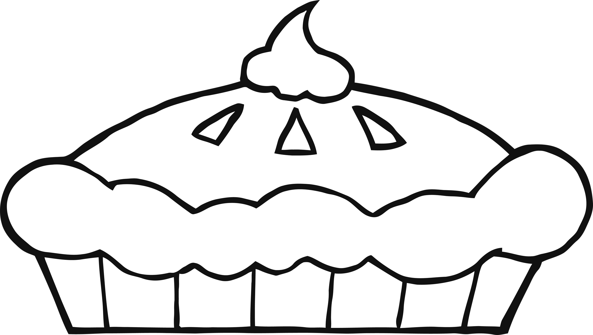 Pie Clip Art Black And White Clipart Panda Free Clipart Images