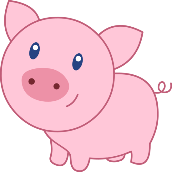 Pig Clip Art Animals .