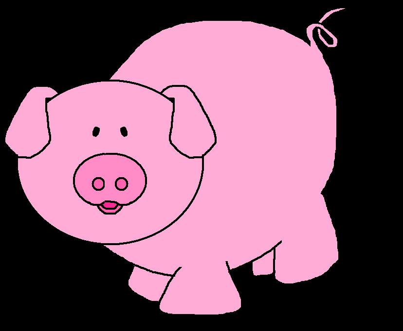 Pig Clip Art Character