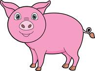 pig clipart. Size: 57 Kb