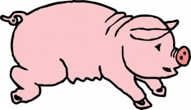 Piggie Pig clip art Vector   Free Download