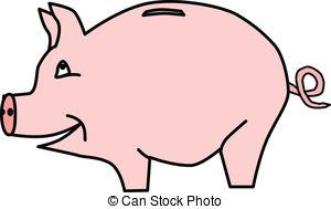 300x189 Clipart of a piggy bank