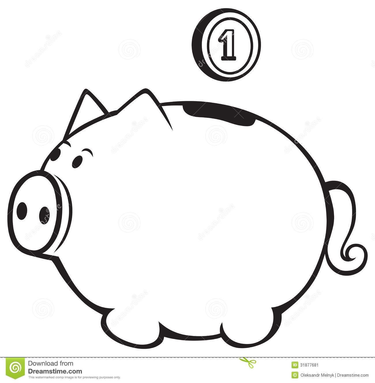 Broken piggy bank clipart father