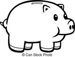Piggy Bank Clip Art #67603 .