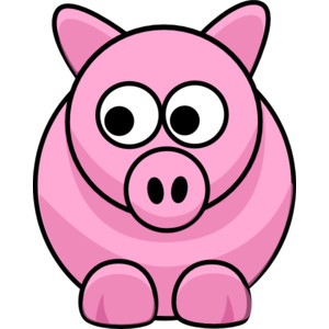 Piggy clip art - vector clip .
