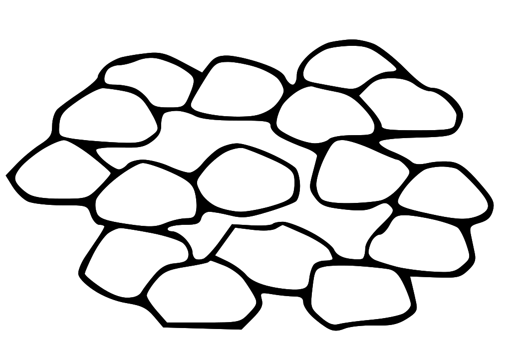 pile of rocks clipart
